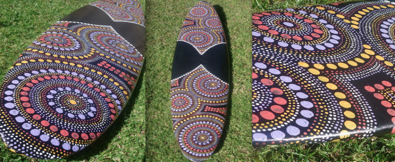 recycled surfboard art